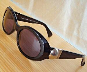 N-Mint-Vtg-CHARLES-JOURDAN-SARO-J-9690-D-311-Black-Oval-51mm-GrayLens-sunglasses