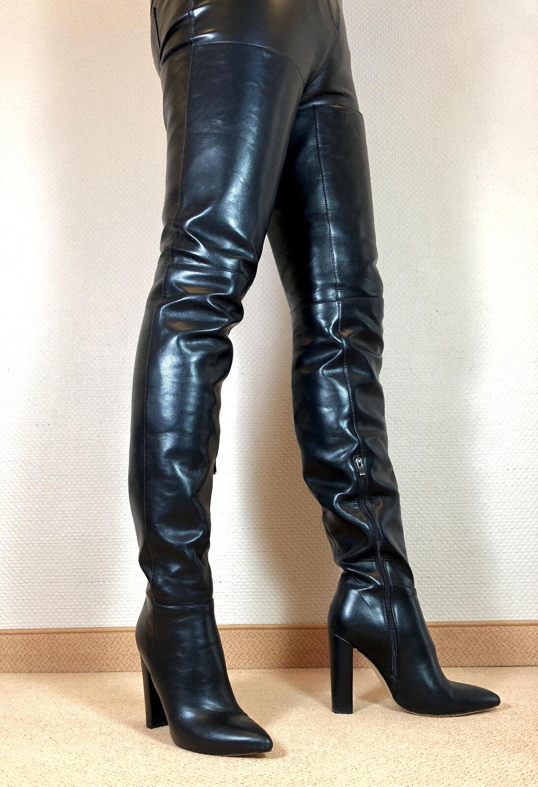 Talla 46 top  en exclusiva sexy zapatos señora botas altas Stiletto botas hombres botas f5