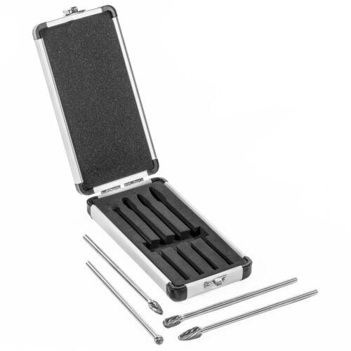 "6/"" Long Reach Rotary Burr 4pc Set Double Cut Tungsten Carbide Bit 14/"" Shank"