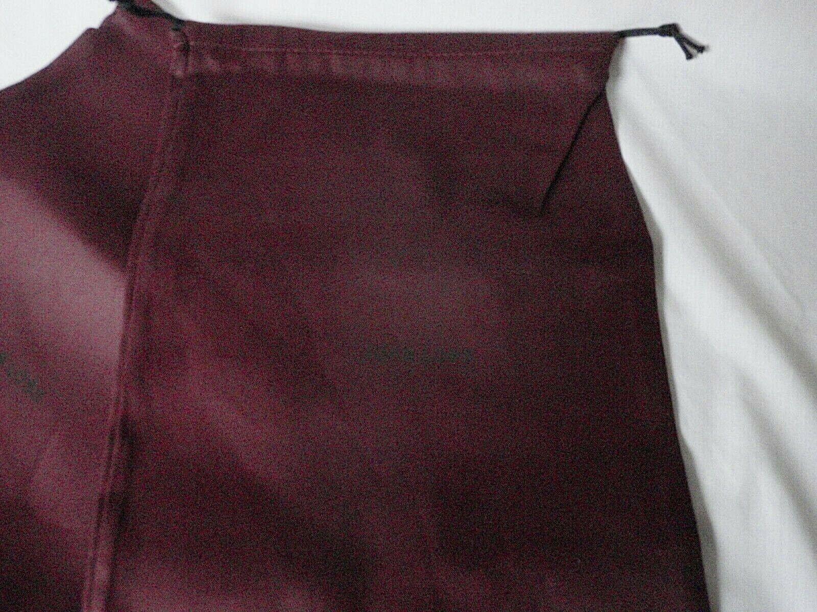 NEW JOHN LOBB Bootmaker Russet (Red) Cotton Boot Dustbags Sleeper Bags 1 pair