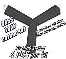 CORNER BASS TRAP KIT 4pc GREYfor Studio Soundproofing Acoustic Wedge Foam Tiles