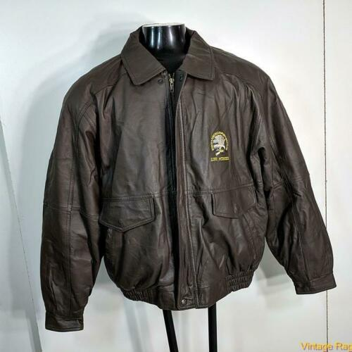 HUNTING CLUB Life Member Leather Flight Bomber JAC