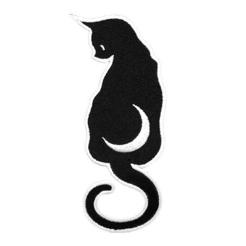 Killstar Gothic Goth Okkult Aufnäher Kitten Katze Kitty Mond Patch Aufbügler