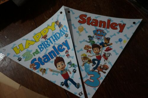 BIRTHDAY DECORATION PERSONALISED  PAW PATROL PARTY BUNTING //BANNER