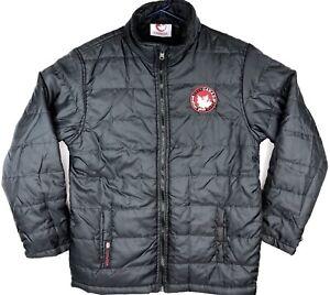 Canada-Weather-Gear-Jacket-Men-Size-M-Light-Puffer-Coat-Black-Outerwear