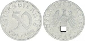 Drittes Reich 50 Pfennig 1942 f vz-st (37216)