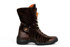 NEU! Eject Damen Stiefel Boots braun schwarz gestreift Fell   Gr. 39 L5385/R1A