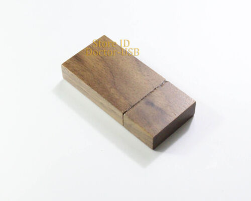 Pack of 10 pcs 4 GB USB Thumb Stick Drive For Photography Walnut Wood Brown