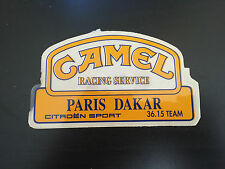 AUTOCOLLANT CAMEL RACING SERVICES RALLYE PARIS DAKAR CITROEN SPORT 90'S