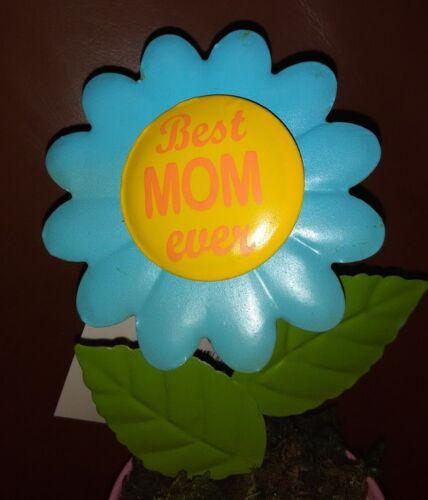Best Mom Ever Metal Flower Pot Decoration