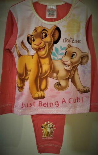 The Lion King Pyjamas Girls Disney Pj/'s Simba Pyjama Set T2TC557