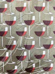 RM STYLE WINE GLASSES RED DARK KHAKI SILK NECKTIE TIE MSE2321B #34