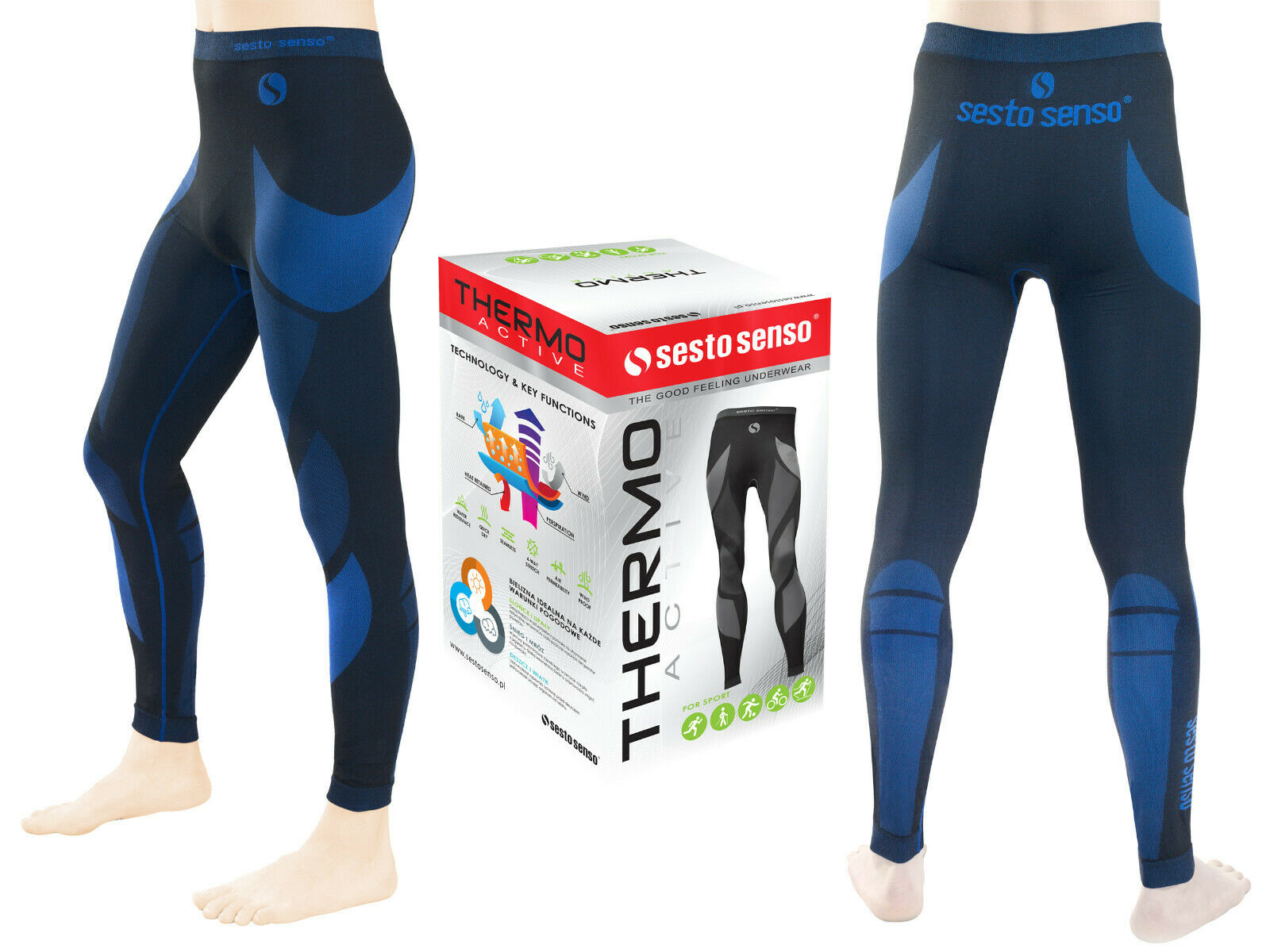 SESTO SENSO THERMO ACTIVE MEN'S TROUSER ANTI ALLERGIC SOFT LIGHT WEIGHT STRETCHY