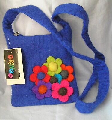 Adattabile Gringo Fair Trade Feltro Small Azzurro Chiaro Borsa A Tracolla Con Etichette-