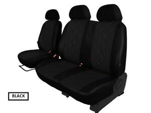 Grey Eco-Leather Universal Front Seat Covers 1+1 fit Renault Trafic