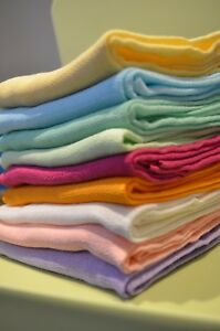 Lovely Colours Large Muslin Squares 70x80 cm 100% Cotton Made in EU