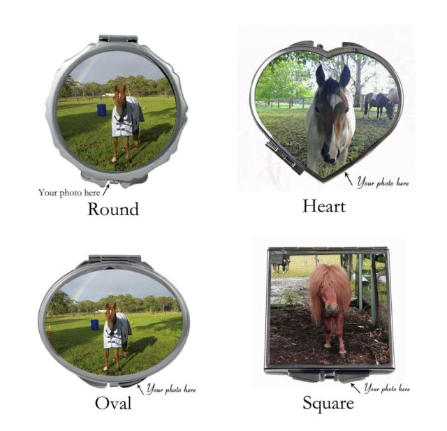 PERSONALIZED COMPACT MIRROR WITH YOUR PHOTO GREAT GIFT IDEA BRAND NEW