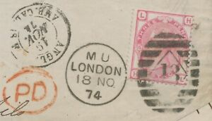 GB-18-11-1874-QV-3d-rose-Pl-15-HL-034-LONDON-13-034-034-PD-034-PROBABLY-LATEST-USAGE