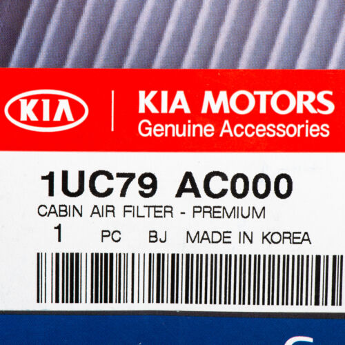 OEM NEW Premium Cabin Air Filter 2011-2015 Kia Sorento 1UC79-AC000