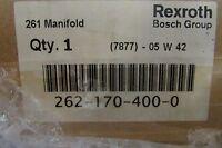 Rexroth Bosch 262 170 400 0 Model 261 Manifold 7877 05 W 42