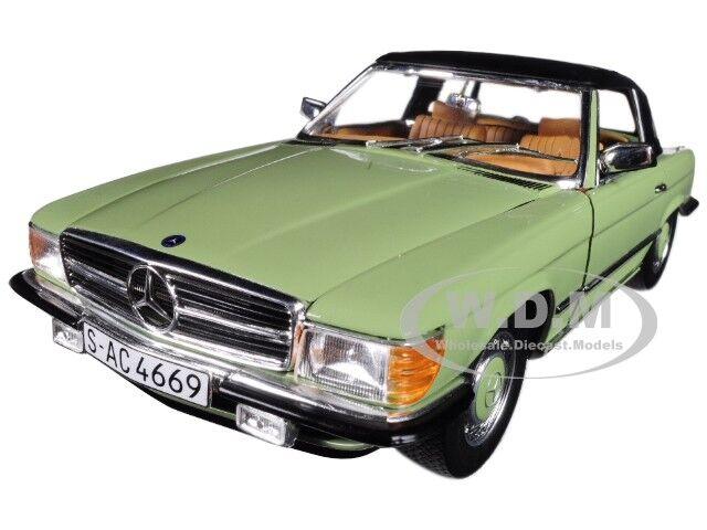 1977 MERCEDES 350SL Closed Convertible-Calédonie vert 1 18 voiture par  SUNSTAR 4669  meilleure qualité meilleur prix