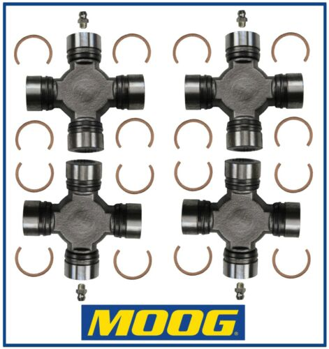 4 Premium Driveshaft Universal Joint Front and//or Rear Moog Greasable