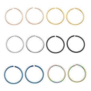 Stainless-Steel-Nose-Ring-Ear-Tragus-Ring-Helix-Cartilage-Stud-CBR-Ring-20G-Set