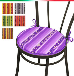 CUSCINO coprisedia ROTONDO moderno cotone cuscini sedie cucina ...