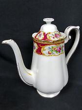 LADY HAMILTON MEDIUM COFFEE POT, 1st QLTY, VGC, 1960s-70s, ENGLAND, ROYAL ALBERT