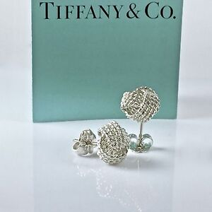 Image Is Loading Tiffany Amp Co Silver Twisted Knot Woven Rope