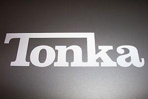 TONKA-Logo-Vinyl-Decal-Sticker-Truck-WHITE-SILVER-BLACK-YELLOW-2-034-3-034-4-034-5-034-7-034