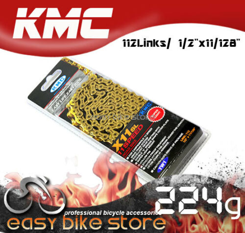 Gold New KMC X11 SL X11SL Chain,112 link with Missing Link