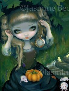 Jasmine-Becket-Griffith-art-print-SIGNED-prince-fairytale-Cinderella-at-Midnight