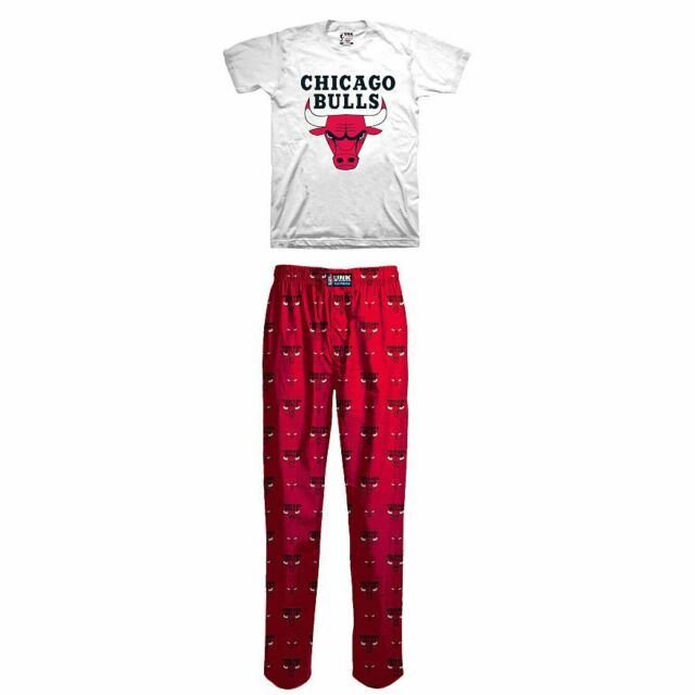 NWT NBA Chicago Bulls Boys Basketball Lounge Pants T-shirt Pajama Set Size 4 dd851ac755f7