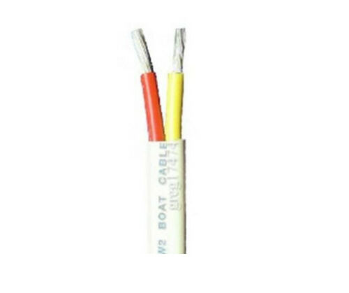 6//2 AWG Duplex Tinned Marine Cable Red Yellow  $2.84 per foot