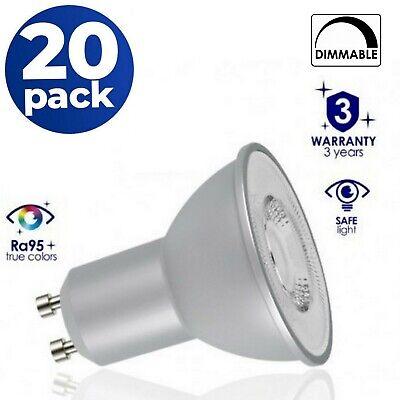 Dimmable GU10 6 W DEL Spotlight Lampe Ampoules Blanc 4000K//6500K Pack de 10