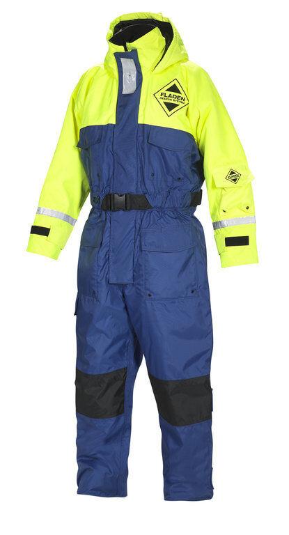 Fladen Flotation Suit 845, Schwimmanzug, blue-yellow, XXS bis XXL, Floatinganzug