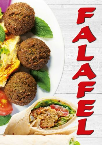 Plakat Falafel wetterfest Pizza Imbiss Döner Banner Kundenstopper DINA1 Folie PV