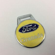 vintage ford granada metal key fob keyring