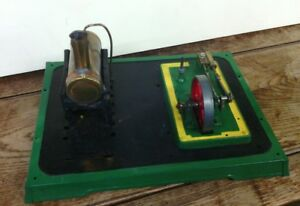 Scratch-built-steam-stationary-engine-with-drive-unit