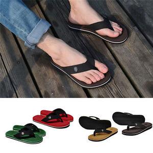 1b9d36e7cbfabd Fashion Summer Soft Casual Men Flat Wedge Sandals Thong Flip Flops ...