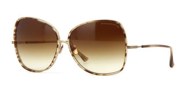 227bdbf7fb6 Authentic DITA Bluebird Two 21011 GLD Sunglasses Brown Swirl-shiny 65mm