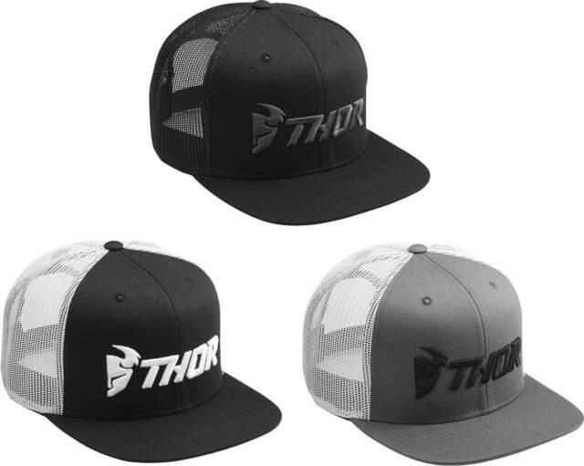 cae49266f Thor Trucker Snapback Hat - Mens Guys Lid Cap Flat Bill MX Motocross MTB