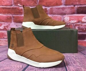 LEATHER SNEAKER BOOTS RUST NUBUCK A1SX9