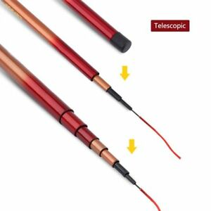 Telescopic-Rod-Ultra-light-Hand-Glass-Steel-Pole-Carp-Fishing-Portable-Tools-New