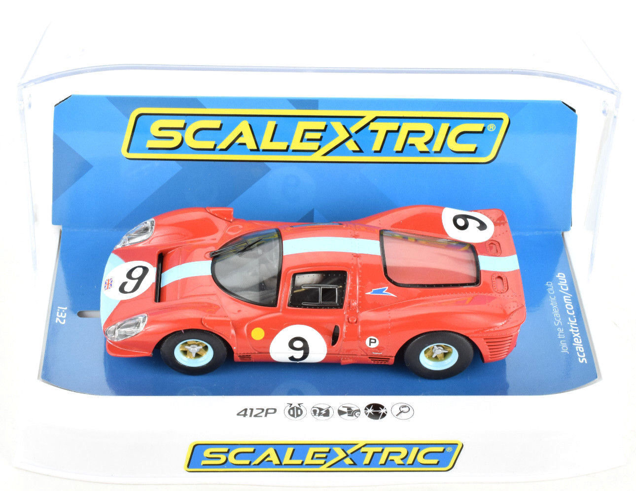 Scalextric Ferrari 412P - 1967 Brands Hatch W  Lights 1 32 Scale Slot Car C3946