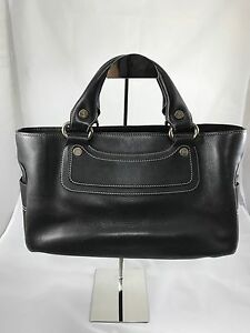 47790bd6e2b4 Image is loading Celine-Boogie-Bag-in-Dark-Brown-Leather