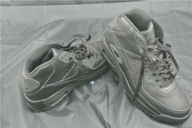 NIKE AIR MAX LEATHER UK 10 BLACK TRAINERS SPECIALS LIMITED EDITION RARE CLASSIC SPECIALS TRAINERS 56f6e3