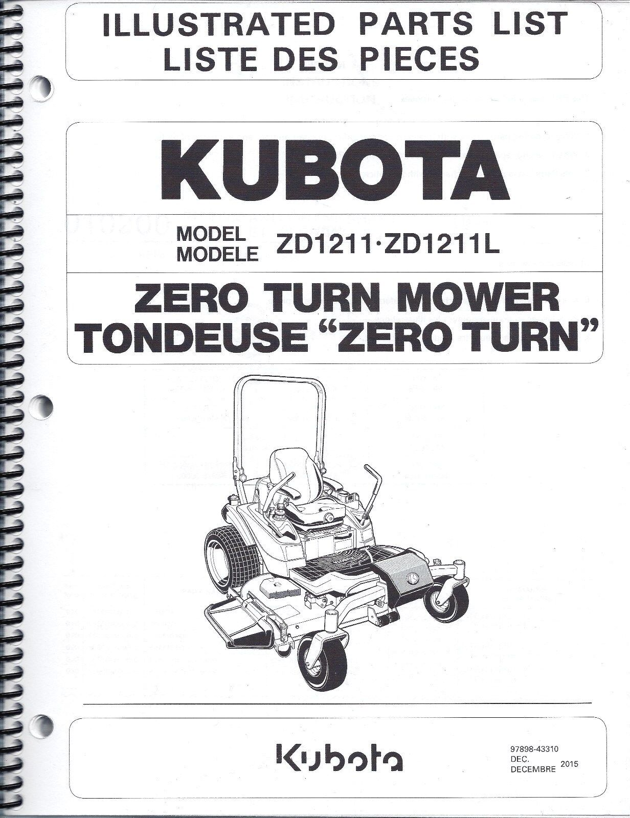 Kubota zd1211 zd1211l zero turn mower illustrated parts manual ebay resntentobalflowflowcomponenttechnicalissues publicscrutiny Image collections