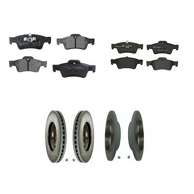 DIMPLED SLOTTED REAR DISC BRAKE ROTORS+PADS for Mercedes Benz W164 ML350 *Solid*